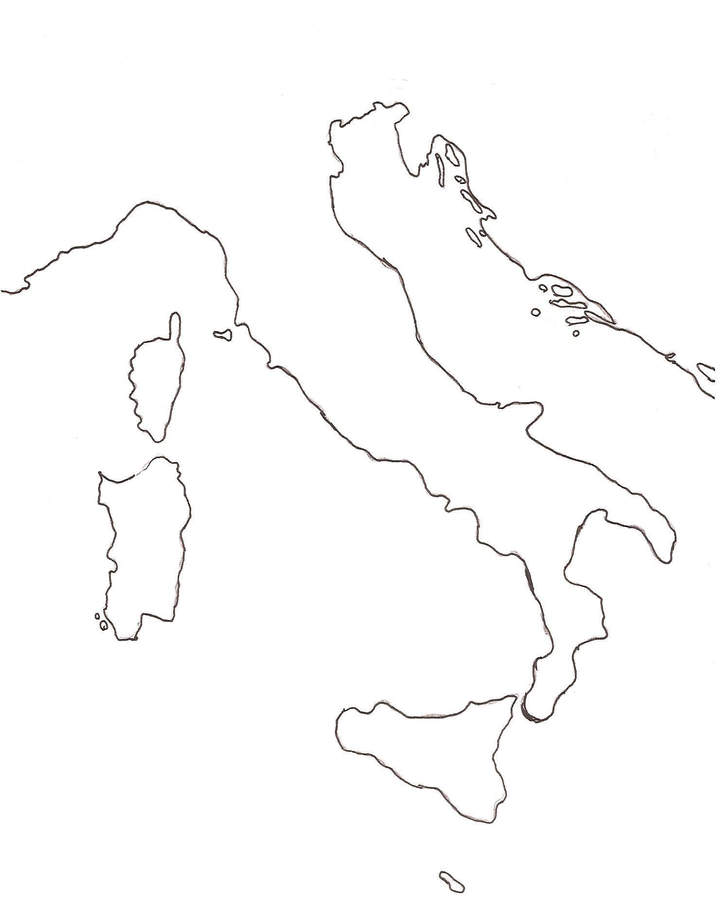 Mapa De Italia Mudo.Mapa Mudo De Italia Harry Potter Y El Hacedor De Reyes